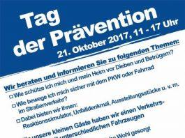"""""""Tag der Prävention"""" am 21. Oktober 2017"""