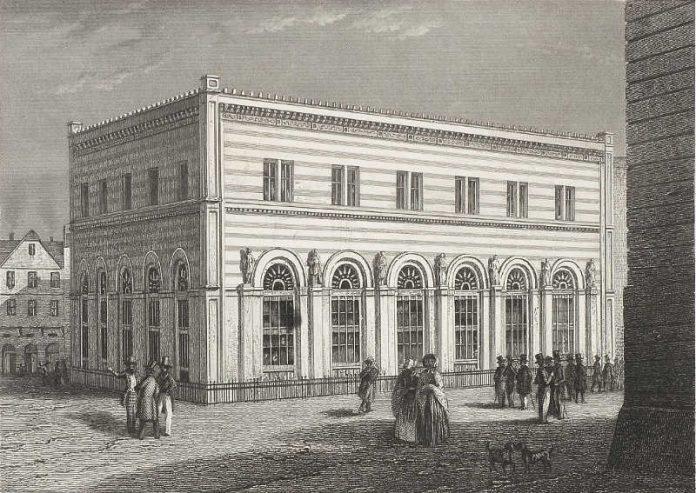 Die Börse, Stich um 1900 (Foto: HMF / Horst Ziegenfuß)
