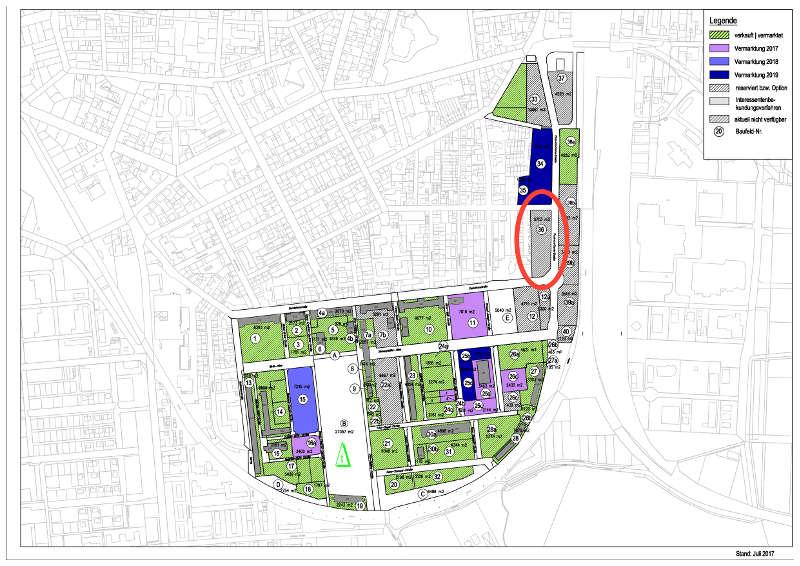 Die Lage der früheren Südwestbus-Fläche an der Paul-von-Denis-Straße. (Quelle: Stadt Landau in der Pfalz)