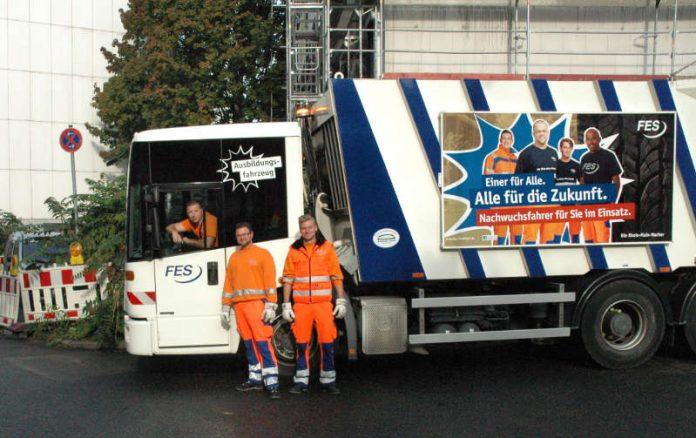 Neues Ausbildungsfahrzeug der FES für die Müllentsorgung (Foto: FES)