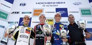 31 Lando Norris (GBR, Carlin, Dallara F317 - Volkswagen), 1 Joel Eriksson (SWE, Motopark, Dallara F317 - Volkswagen), 62 Ferdinand Habsburg (AUT, Carlin, Dallara F317 - Volkswagen), FIA Formula 3 European Championship, round 10, race 1, Hockenheimring (DE) (Foto: FIA Formular 3)