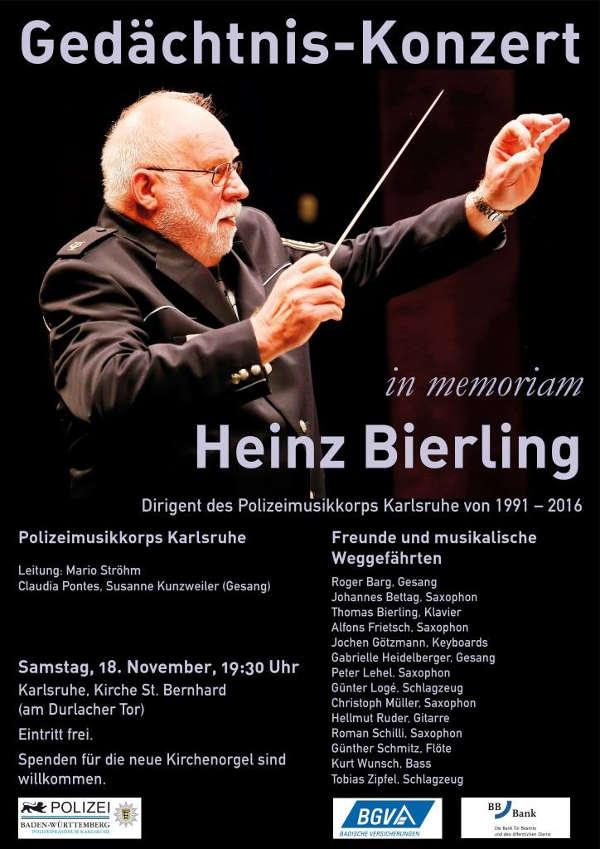 Veranstaltungsplakat (Quelle: Polizeimusikkorps Karlsruhe)