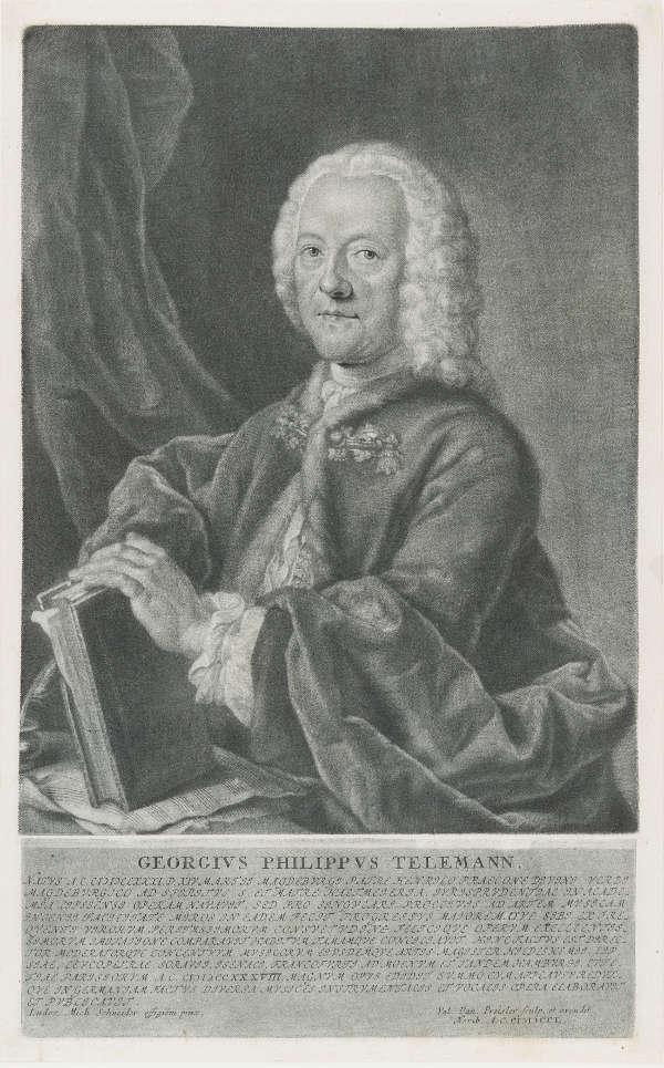 Georg Philipp Telemann, Druckgrafik, Portrait, 1750, Mezzotinto (Foto: HMF / Horst Ziegenfuß)