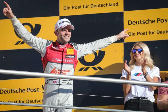 #53 Jamie Green (GBR, Audi Sport Team Rosberg, Audi RS5 DTM), Lena Gercke (Model und Moderatorin) (Foto: ITR GmbH - DTM online)