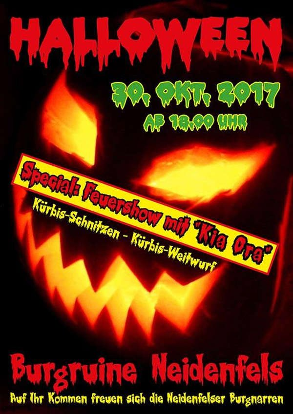 Halloween 30 Oktober.Neidenfels Halloween Auf Der Burg Am 30 Oktober