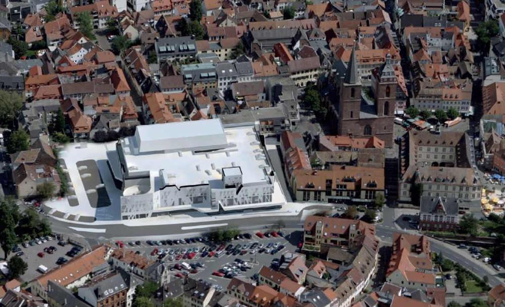 Visualisierung des alten Hertie-Gebäudes (Quelle: Stadtverwaltung Neustadt)
