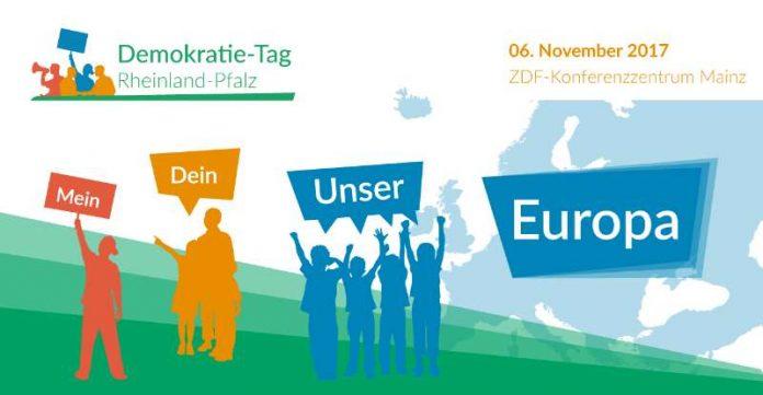 """""""Mein, Dein, Unser Europa?!"""": Unter diesem Motto steht der 12. Demokratie-Tag Rheinland-Pfalz am 6. November in Mainz. (Quelle: Deutsche Gesellschaft für Demokratiepädagogik)"""