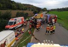 Zwei Personen wurden verletzt (Foto: Andreas Denk, Feuerwehr Weingarten)
