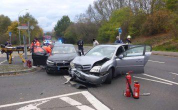 5 Personen wurden bei dem VU verletzt (Foto: Feuerwehr Mainz)