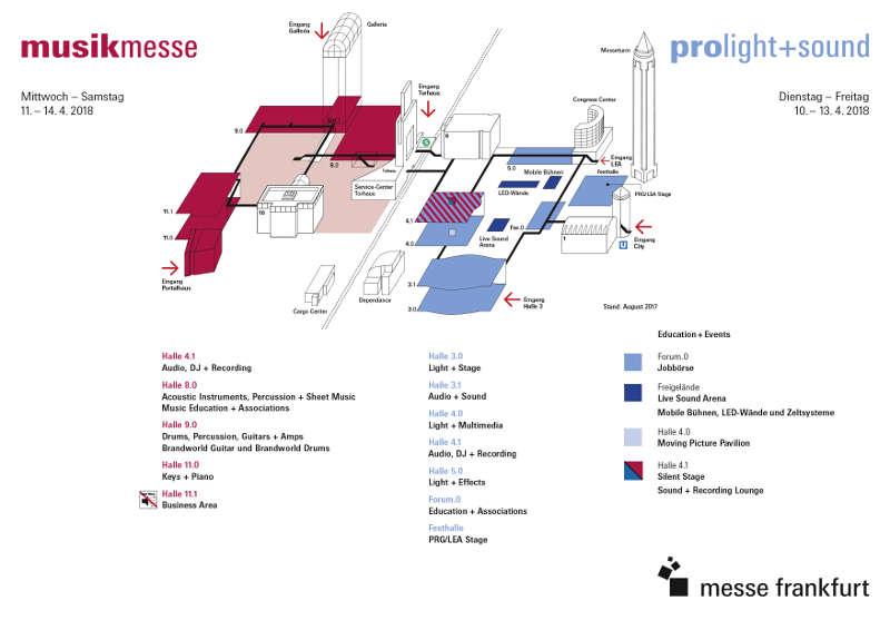 Geländeplan (Quelle: Messe Frankfurt)
