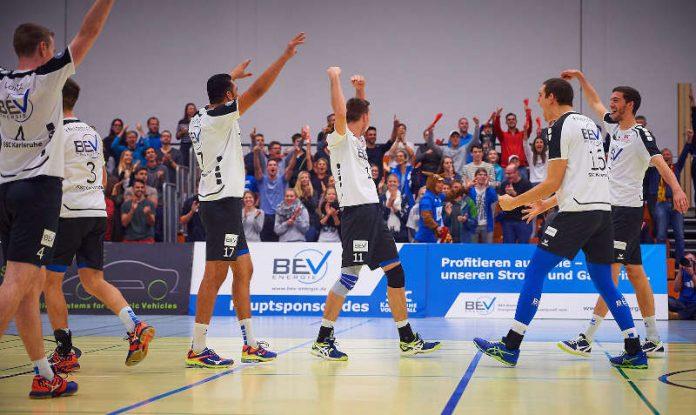 SSC Karlsruhe - Volleyball - Jubel Achtefinaleinzug (Foto: Andreas Arndt)