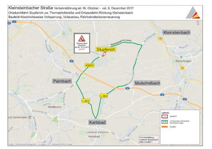 Verkehrsführung ab 16. Oktober (Quelle: Stadt Karlsruhe / Tiefbauamt)