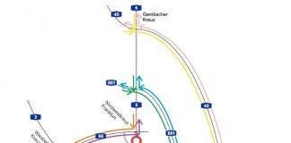 Umleitungen und Sperrung der A5 (Quelle: Hessen Mobil)