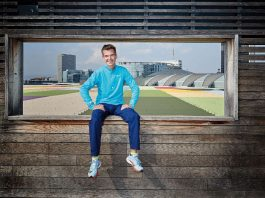 Arne Gabius, der deutsche Lauf-Star, über die Kraft eines schlechten Frühstücks vor dem Start, den Geburtstermin seines ersten Kindes just am Marathontag und worauf er entlang der Frankfurter Strecke besonders achtet. (Foto: Mainova Frankfurt Marathon)