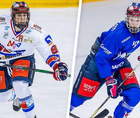 v.l.: Pierre Preto, Moritz Seider (Foto: Adler Mannheim)