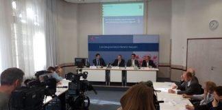 Pressekonferenz in Wiesbaden (Foto: HMdIS)