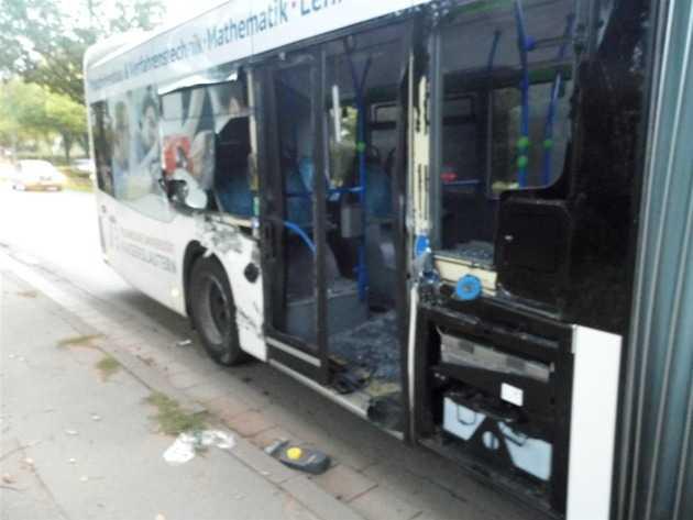 Schaden am Linienbus