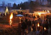 Waldweihnacht Johanniskreuz in der Dämmerung (Foto: Haus der Nachhaltigkeiten, Johanniskreuz)