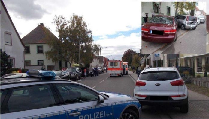 Verkehrsunfall in Maxdorf (Foto: Polizei RLP)