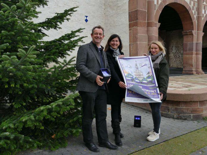 v.l.: Bürgermeister Christian Schönung, Susanne Schäfer (GGEW Leitung Kommunikation), Jana Lenhart (KULTour-Amt) (Foto: Stadt Lorsch)