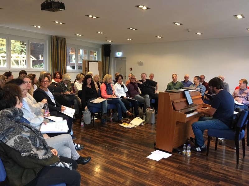 Der Chor probte in Friedrichsdorf (Foto: PopChor 21)