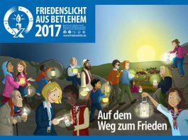 Friedenslicht-Plakat 2017 (Quelle: Ringe deutscher Pfadfinderinnen- und Pfadfinderverbände (RDP/RdP) e.V.)