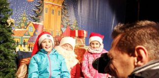 "Aktion ""Fotos mit dem Weihnachtsmann"". (Foto: Lions Club Mannheim-Quadrate)"