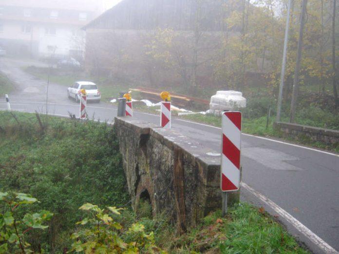 Das Bauwerk wurde voll gesperrt (Foto: Hessen Mobil)