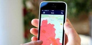 Warnung auf Smartphone: Die Warn-App NINA des Bundes hat deutschlandweit bereits über 2,2 Millionen aktive Nutzer. (Quelle: BBK)