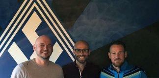 SVW-Geschäftsführer Markus Kompp, Benjamin Sachs und Cheftrainer Michael Fink (Foto: SVW Mannheim)