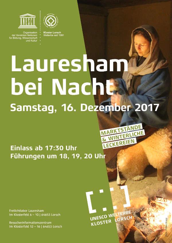 Letzte Themenveranstaltung des Freilichtlabors Lauresham lädt zu einer faszinierenden Zeitreise in das Nachtleben der Menschen im Frühen Mittelalter, 16. Dezember 2017