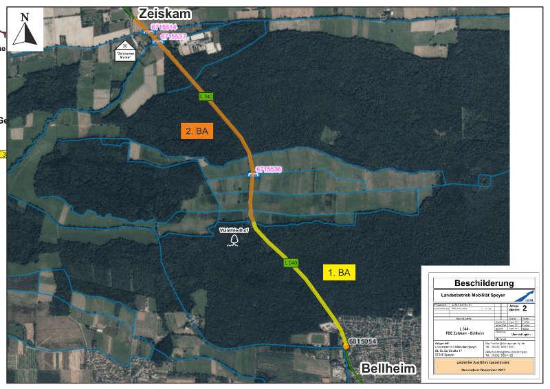 Übersichtsplan 1. und 2. BA (Quelle: LBM Speyer)