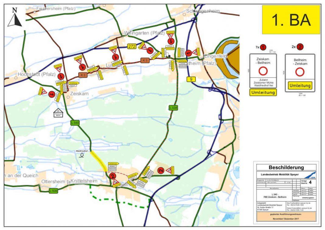 Plan 1. Bauabschnitt (Quelle: LBM Speyer)