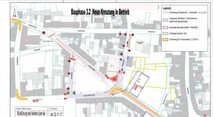 Talstraße, Verkehrsplan 3.2 vom 13.11.17 (Quelle: Stadtverwaltung Neustadt)