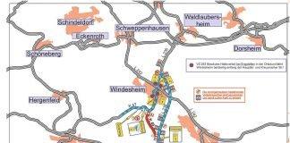 Verkehrszeichenplan (Quelle: LBM Bad Kreuznach)