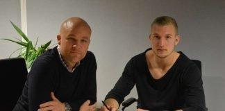 v.l.: Sportvorstand Rouven Schröder und Kevin Zentner (Foto: Mainz 05)