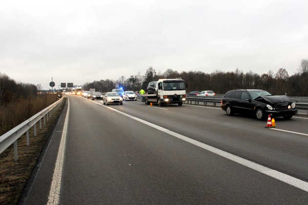 Unfallstelle in Richtung Mannheim