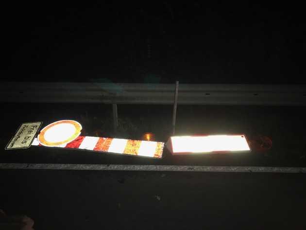 Die abgerissenen Schilder