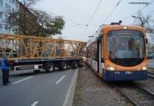 LKW-Unfall mit Strassenbahn in Mannheim
