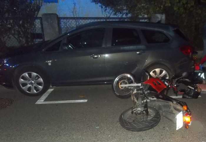Verkehrsunfall mit Motorradfahrer