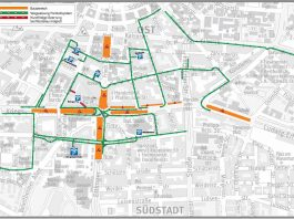 Verkehrsführung Weihnachtskonzept (Quelle: Tiefbauamt Karlsruhe)