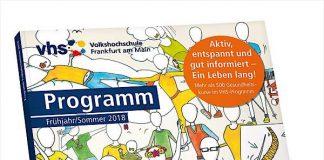 Kursprogramm der Volkshochschule (VHS) für Frühjahr/Sommer 2018 (Foto: Volkshochschule Frankfurt)