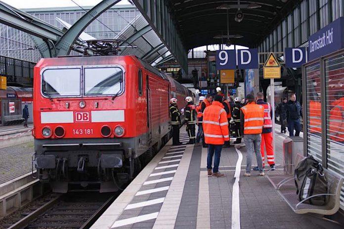 Feuerwehreinsatz im HBF Darmstadt (Foto: Feuerwehr Darmstadt)