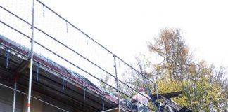 Erhalt der Waldwerkstatt Taubensuhl: Die dringend notwendige Dachsanierung wurde als erstes Etappenziel auf den Weg gebracht und konnte nun erfolgreich abgeschlossen werden. (Quelle: Waldwerkstatt Taubensuhl und Nußdorfer Hütte e.V.)