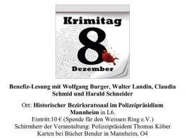 Plakat Krimitag (Quelle: Claudia Schmid)