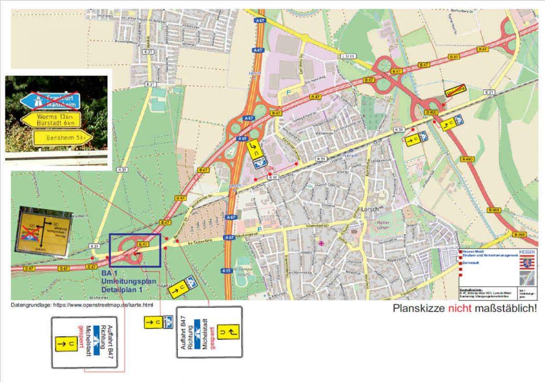 Umleitungsplan (Quelle: Hessen Mobil)