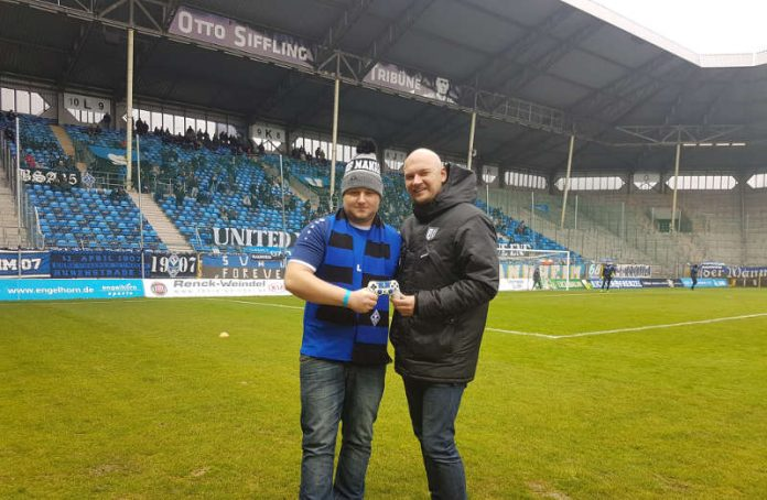 Oliver Pressler (l.) und SVW-Geschäftsführer Markus Kompp (Foto: SVW)