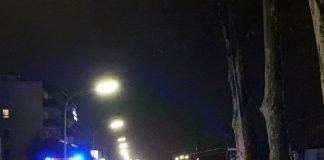 Übersichtsaufnahme Unfallstelle, Worms, Cornelius-Heyl-Straße