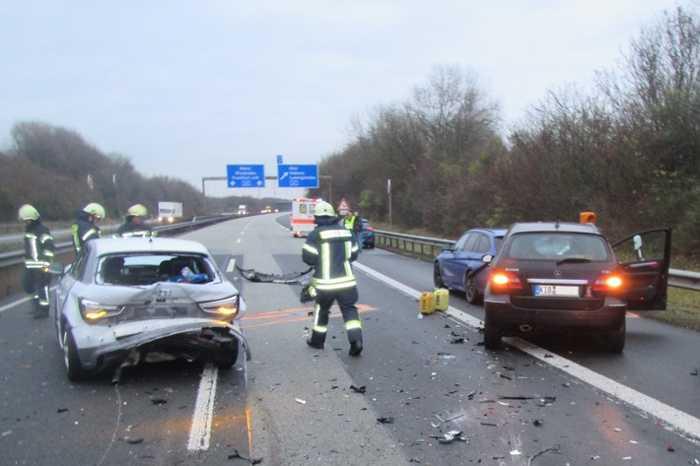 Schwerer Unfall A63