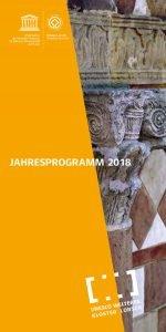 Titelseite des Veranstaltungsprogramms 2018 (Quelle: UNESCO Welterbe Kloster Lorsch)